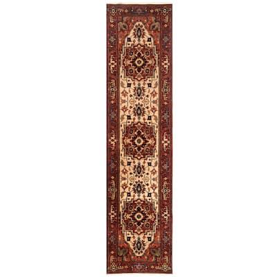 Handmade One-of-a-Kind Serapi Wool Runner (India) - 2'8 x 9'9