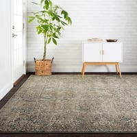 "Antique Inspired Vintage Grey/ Stone Distressed Rug - 9'6"" x 13'"