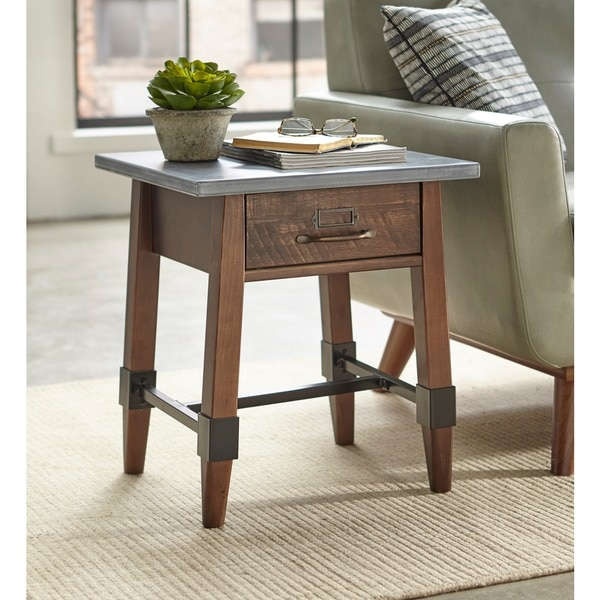 Shop Simple Living Clint End Table Free Shipping Today Overstock