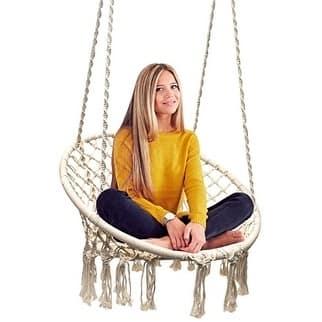 Sorbus Hammock Chair Macrame Swing, 265 Pound Capacity