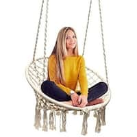 Sorbus Hammock Chair Macrame Swing, 265 Pound Capacity