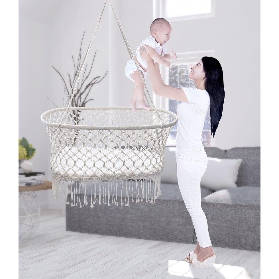 International Sorbus Baby Crib Cradle, Hanging Bassinet a...