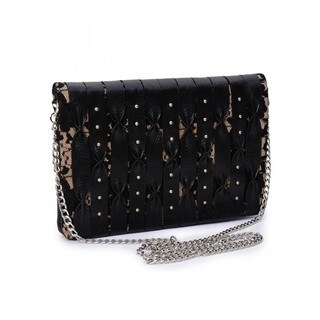 Jasbir Gill Women's Clutch (Black and Nude)
