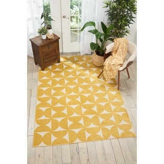 Nourison Harper Yellow Area Rug (4'X6' )