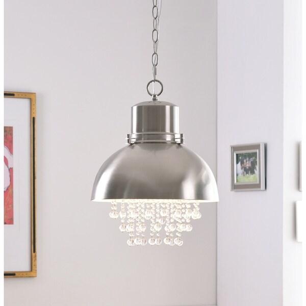 Aniston Brushed Steel 1 Light Pendant