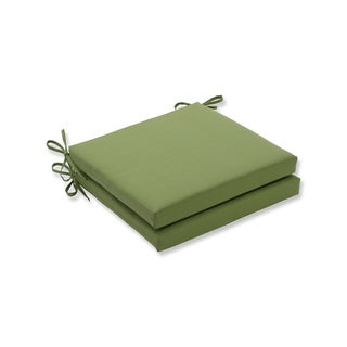 Pillow Perfect Outdoor/Indoor Forsyth Kiwi Squared Corners Seat Cushion 20x20x3 (Set of 2)