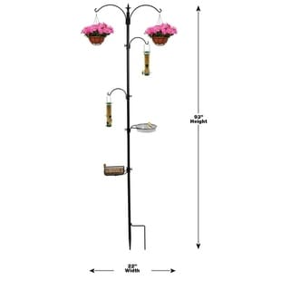 Sorbus Bird Feeding Bath Station, Metal Deck Pole for Bird Feeders