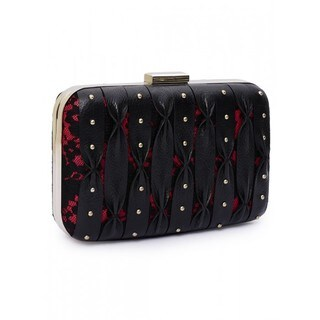 Jasbir Gill Women's Clutch (Black and Red) - One size