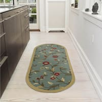 "Ottomanson Home Collection Seafoam Floral Design Runner Rug - 1'8"" x 4'11"""