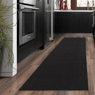 "Ottomanson Ottohome Collection Black Hallway and Kitchen Runner Rug (20"" X 59"")"