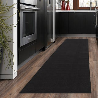 "Ottomanson Ottohome Collection Black Hallway and Kitchen Runner Rug - 1'8"" x 4'11"""