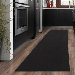 ottomanson ottohome collection black hallway and kitchen runner rug 18 - Kitchen Rug Runners