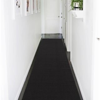 Ottomanson Ottohome Collection Black Hallway and Wedding Runner Rug (3' X 12')