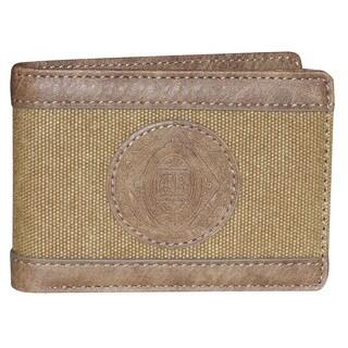 Buxton Eagle Wings Front Pocket Slimfold Wallet (Option: Beige)