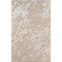 Serenity Nouvel Sand Wool with Viscose Hand-tufted Rug (5' x 8') - 5' x 8'