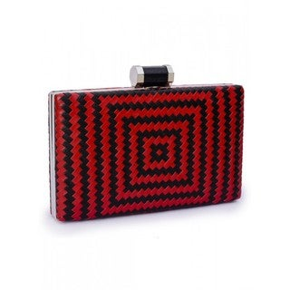 Jasbir Gill Women's Clutch (Red and Black) - One size