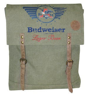 Buxton Eagle Wings Canvas Slim Backpack