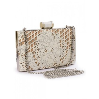 Jasbir Gill Women's Clutch (White and Nude)