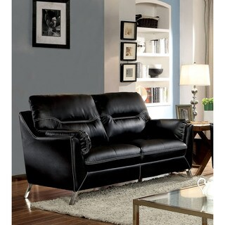 Furniture of America Rento Contemporary Padded Leatherette Loveseat