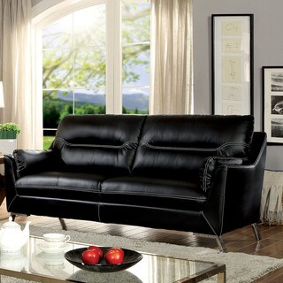 Furniture of America Rento Contemporary Padded Leatherette Sofa