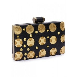Jasbir Gill Women's Clutch (Black and Gold)