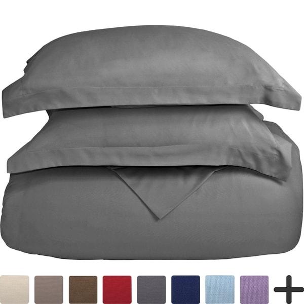 Duvet Insert + Duvet Cover Set - Premium 1800 Down Alternative Ultra-Soft Brushed Microfiber