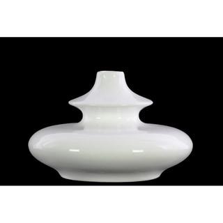 UTC31858 1pc Stoneware Bellied Round Vase