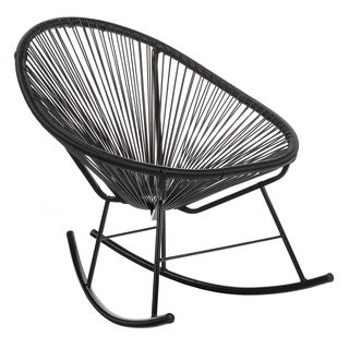 Handmade Acapulco Papasan Rocking Chair, Indoor Or Outdoor, Black (China)