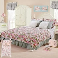 Cotton Tale Tea Party Floral Reversible 5 PC Twin Quilt Bedding Set