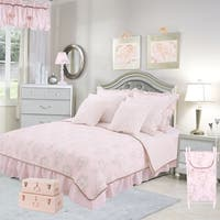 Cotton Tale Lollipops Pink Floral Reversible 2 PC Twin Quilt Bedding