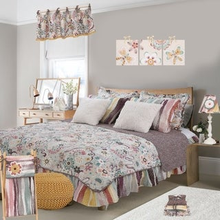 Cotton Tale Penny Lane Retro Floral Reversible 8 PC Queen Bedding Set
