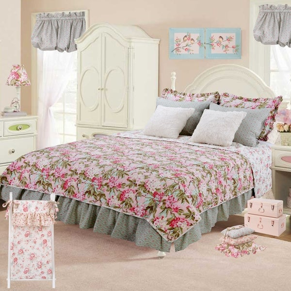 Cotton Tale Tea Party Floral Reversible 3 PC Full/Queen Quilt Bedding