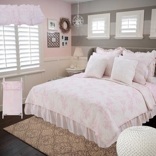 Link to Cotton Tale Heaven Sent Pink Floral Reversible 5 PC Twin Quilt Bedding Similar Items in Kids Comforter Sets