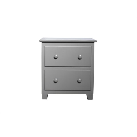 Atlantic Furniture Traditional Grey Wood 2-drawer Nightstand
