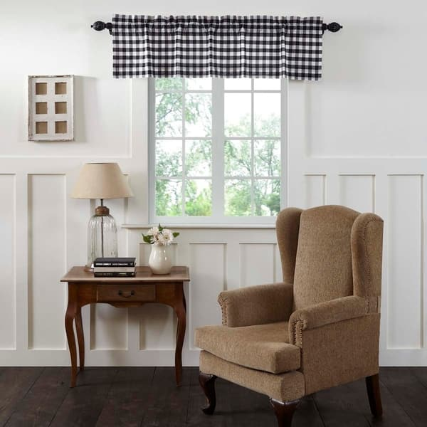 Shop Farmhouse Kitchen Curtains Vhc Annie Buffalo Check