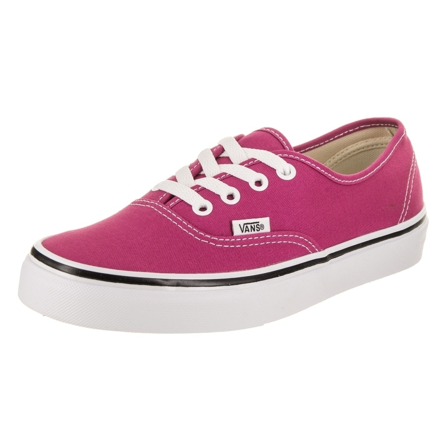 Vans Unisex Authentic Skate Shoe (4), Pink (canvas)