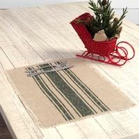 Vintage Burlap Stripe Placemat Set of 6