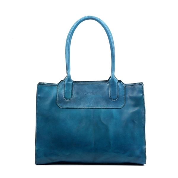 Foressence Piper Leather Satchel Handbag. Opens flyout.