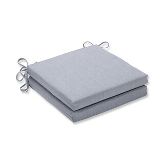 Pillow Perfect Outdoor/Indoor Canvas Granite Squared Corners Seat Cushion 20x20x3 (Set of 2)