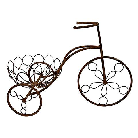 Three Hands Metal Bicycle Planter
