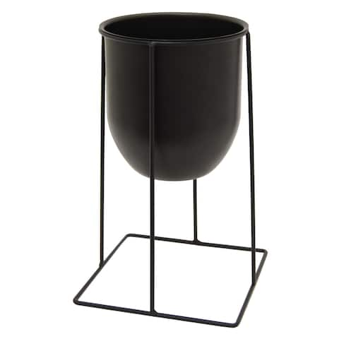 Three Hands Metal Planter With Stand