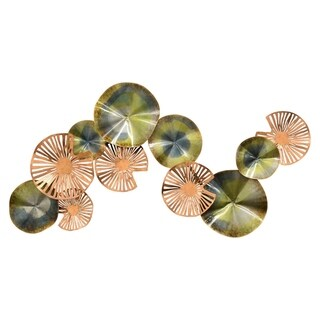 """Three Hands Wall Decor in Green Metal - 24"""" H"""