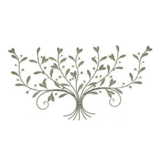 Three Hands Leaf Wall Art - Brass Antique