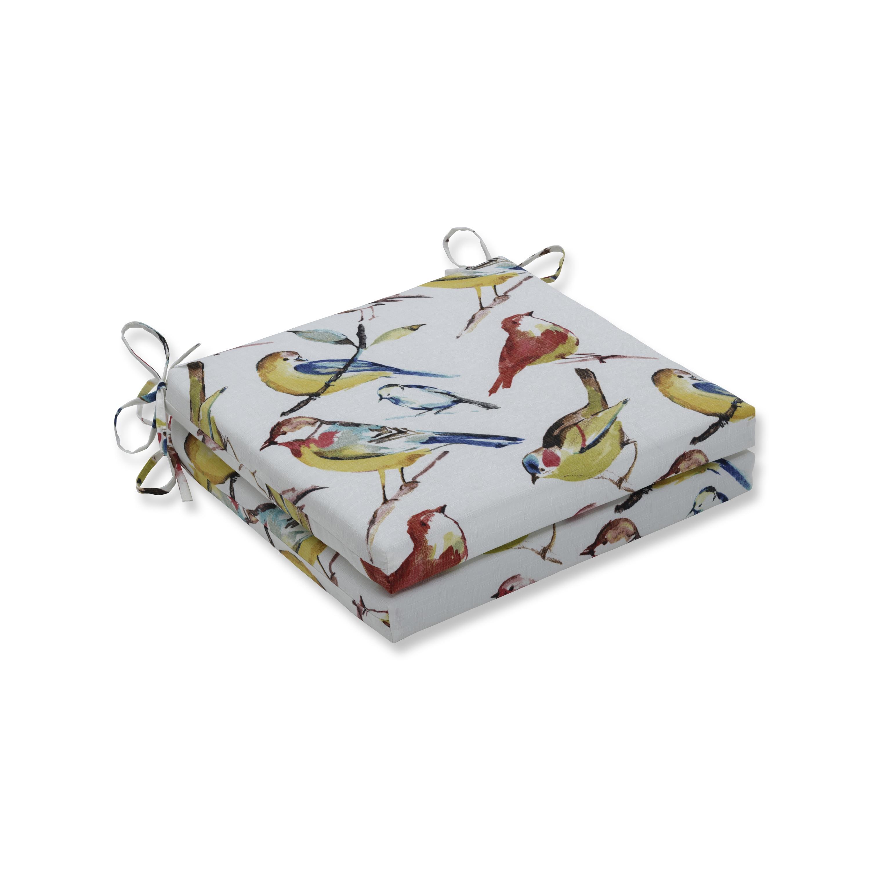 Pillow Perfect Outdoor Indoor Bird Watchers Summer Squared Corners Seat Cushion 20x20x3 Set Of 2 Overstock 19487740