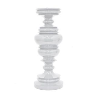 Three Hands Decorative White Resin Candleholder