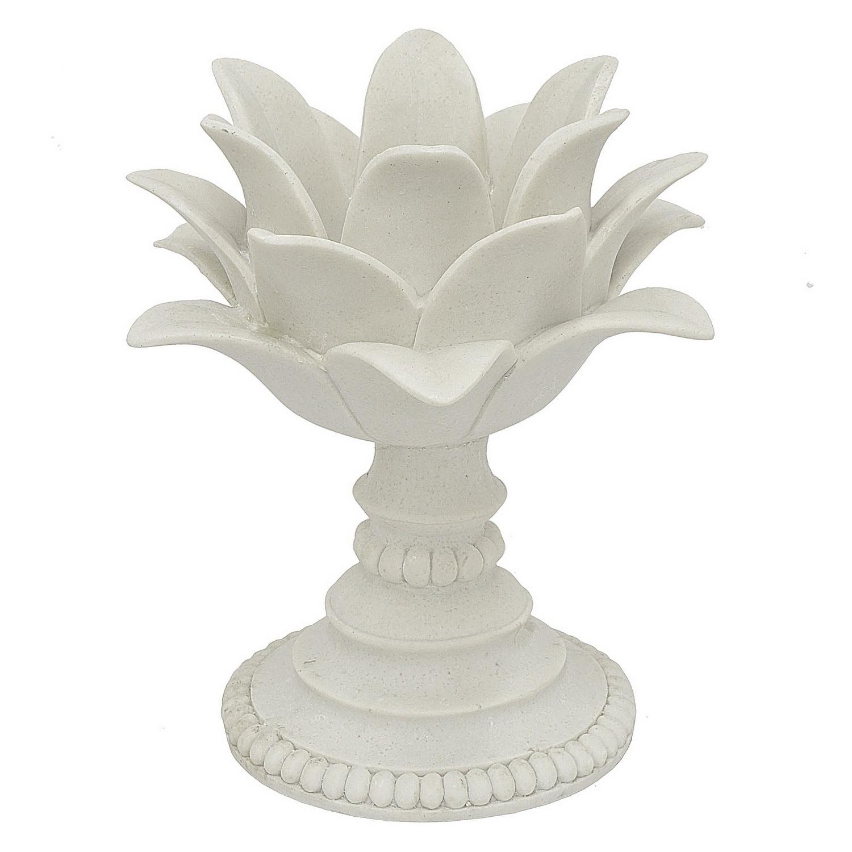 Three Hands Decorative White Resin Lotus Flower Votive Holder Overstock 19487757