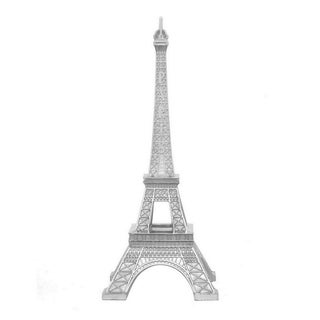 Three Hands Silver Resin Eiffel Tower Tabletop Decor