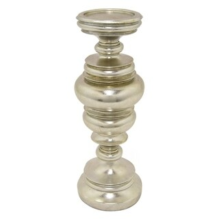 Three Hands Decorative Silver Resin Candleholder
