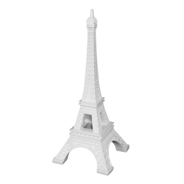 Three Hands White Resin Eiffel Tower Tabletop Decoration