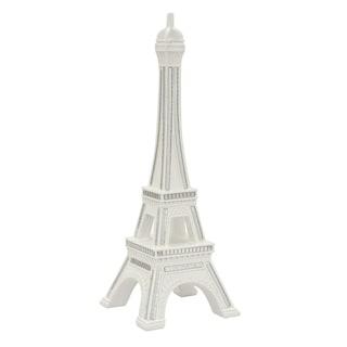 Three Hands White Resin Eiffel Tower Tabletop Decor